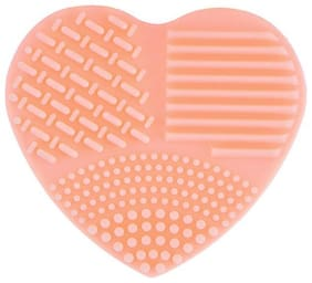 P S Retail Heart Shape Glove Scrubber and Makeup Cleaner Brushes
