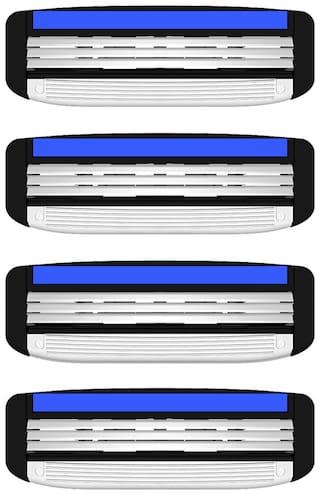 LetsShave Pro 3 Shaving Razor Blades for Men, Pack of 4 Blades Cartridge
