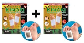 Pack of 2 pcs. Kinoki Gold Toxins Removal Cleansing Detox Foot Pads Each piece Contains 10 pads