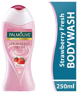 Palmolive Body Wash Body Butter Strawberry Fresh Imported 250 ml