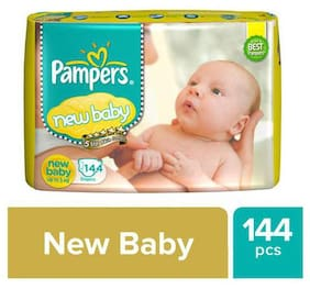 Pampers  Active Baby New Born - 144 Diapers 144 pcs