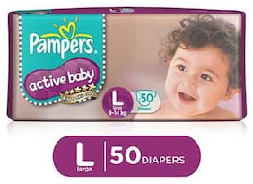 Pampers Active Baby Diaper Large 50 pcs