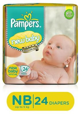Pampers Active Baby Diaper New Baby 24 Pcs
