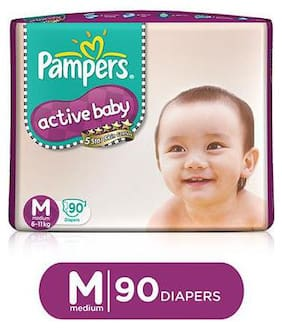 Pampers Active Baby Diaper Medium 90 pcs