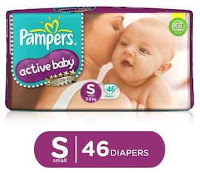 Pampers  Active Baby Diapers - Small (3-8 kg) 46 pcs