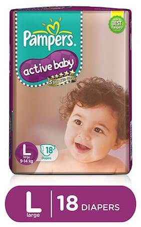 Pampers Active Baby Diaper Large 18 pcs