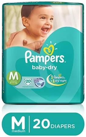 Pampers Baby Dry Diapers M 20 pcs