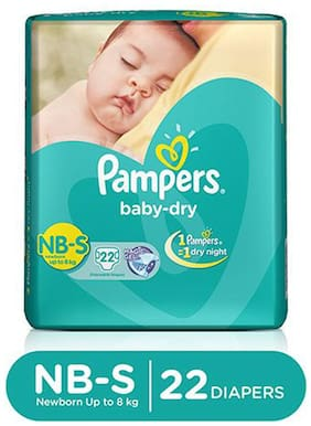 Pampers  Baby Dry Diapers Small 22 pcs