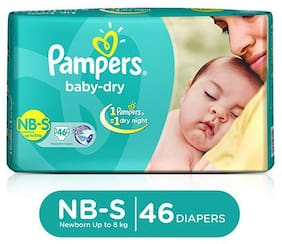 Pampers  Baby Dry Diapers - Small 46 pcs