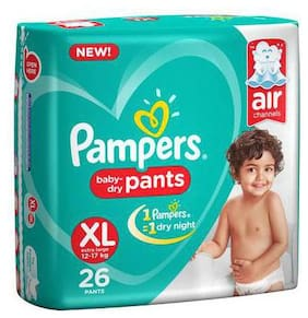 Pampers Baby Dry Pants - Extra Large New (26 Pants)