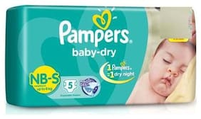 Pampers  Baby Dry Diapers - Small 5 pcs