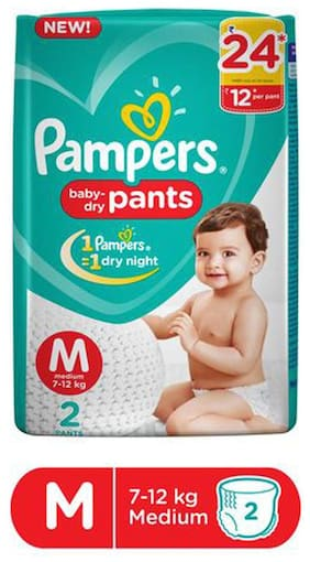 Pampers  Diapers New  Medium Size Pants 2 pcs