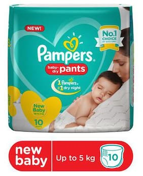 Pampers  Diapers Pants - Extra Small Size  New 10 pcs
