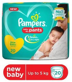 Pampers  Diapers Pants - Extra Small Size  New 20 pcs