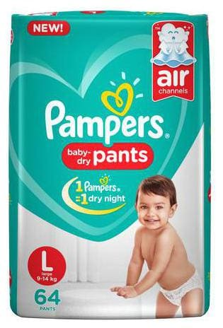 Pampers Diapers Pants - Large Size New (64 Pants)