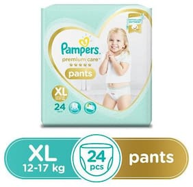 Pampers Diapers - Extra Large Size, Premium Care Pants 240 gm