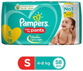 Pampers  Diapers Pants - Small Size  New 58 pcs