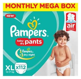 Pampers  Diaper Pants - Extra Large, New, Monthly Box 112 pack