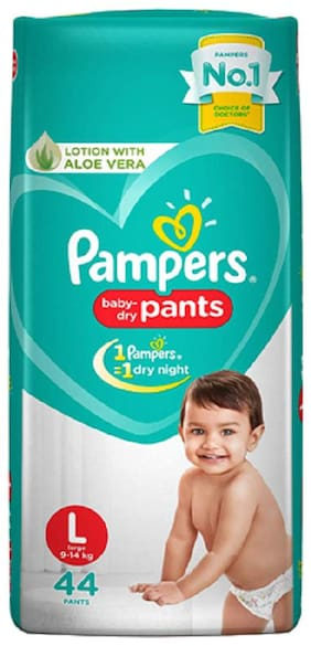 Pampers Diapers Pants - Large Size New (44 Pants)