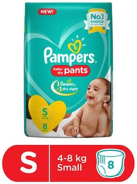 Pampers  Diapers Pants Small Size  New 8 pcs