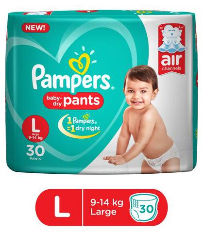 Pampers  Diapers Pants   Large Size, New 30's pack