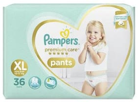 Pampers  Diapers - Extra Large Size  Premium Care Pants 36 pcs