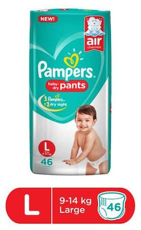 Pampers  Diapers Pants - Large Size, New 46's pack