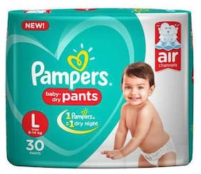 Pampers Diapers Pants - Large Size New (30 Pants)