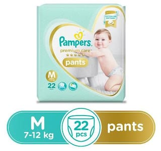 Pampers  Diapers Pants - Medium Size  Premium Care 22 pcs