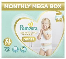 Pampers Monthly Box Pack - Diapers Pants Extra Large Size Size Premium Care 72 pcs