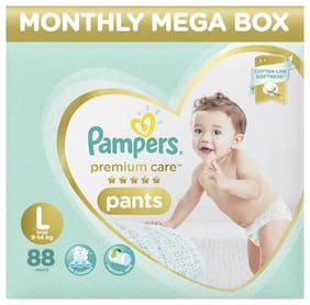 Pampers Monthly Box Pack - Diapers Pants, Large Size, Premium Care 880 gm