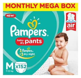 Pampers Pants Diapers Medium Size (152 pcs)