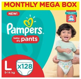 Pampers Pants Diapers - Large Size 128 pcs