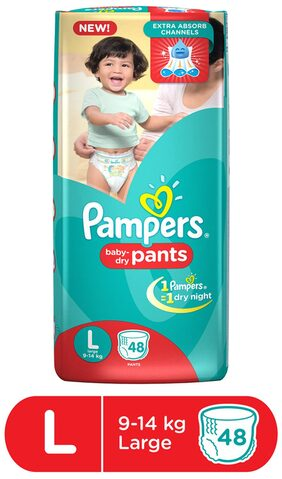 Pampers Pants Large Diapers 48Pcs