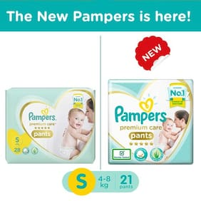Pampers  Premium Care New Baby Small - 21 Diapers