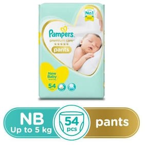 Pampers  Premium Care Diaper Pants - New Baby  X-Small Size 54 pcs