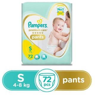 Pampers  Premium Care Diaper Pants - Small Size 72 pcs
