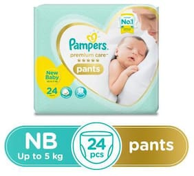 Pampers  Premium Care Diaper Pants - New Baby  X-Small Size 24 pcs