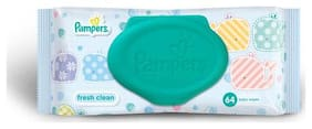 Pampers Wipes - Baby Fresh Clean 64 wipes