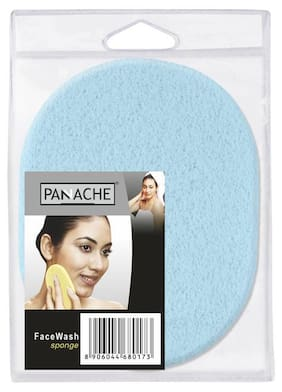 PANACHE Face Wash Sponge, Ultramarine Blue, Daily use Facial Sponge while washing your Face & Neck, Face Care Tool, ( pack of 1 )