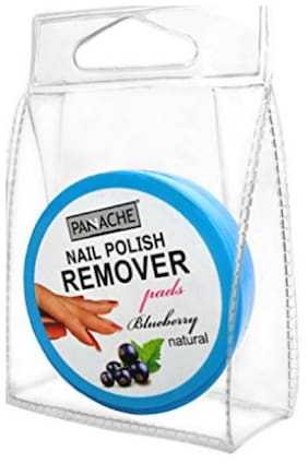 PANACHE Nail Polish Remover Pads, Blueberry, Nail Care Accessories, Beauty, Make-up & Nails, ( pack of 1 )