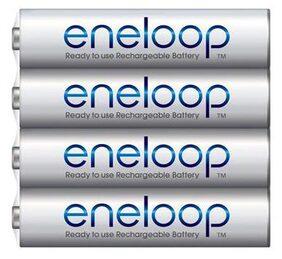 Panasonic Eneloop Shrink BK-4MCCE/4SN AAA Rechargable Battery - Pack of 4 (White)
