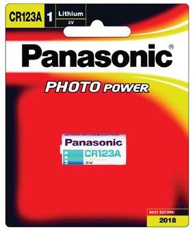 Panasonic Lithium CR123AW/1BE 3V Battery