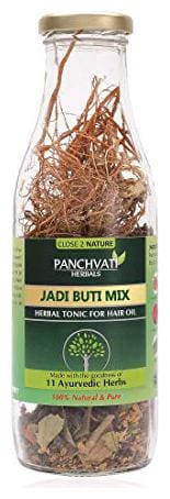 Panchvati Make your own hair oil DRY Jadi Buti Mix (11 Ayurvedic herbs, 100% Herbals & Plant derived) for complete
