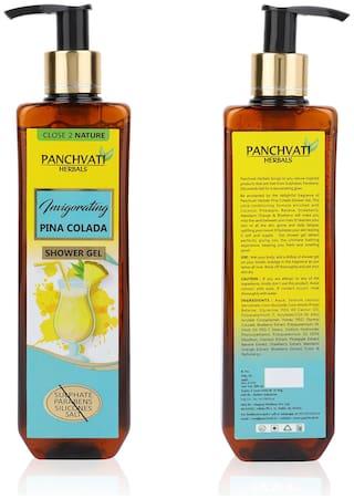 Panchvati Pina Colada Shower Gel 300 ml - No Parabens, Sulphate, Silicones & Salt