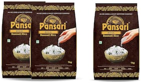 Pansari Royal Basmati Rice , 2 Year Aged Long Grain Basmati Rice,Biryani Rice, Pulav Rice-3 kg