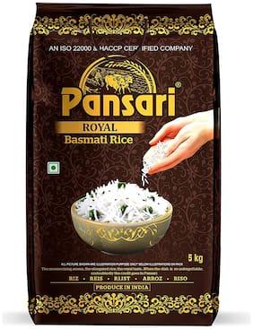 Pansari Royal Basmati Rice , 2 Year Aged Long Grain Basmati Rice,Biryani Rice, Pulav Rice-5 kg