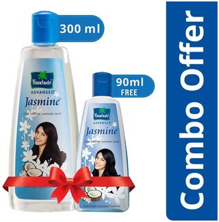 Parachute Advansed Jasmine Coconut Hair Oil 300 ml With Free 90 ml Pack