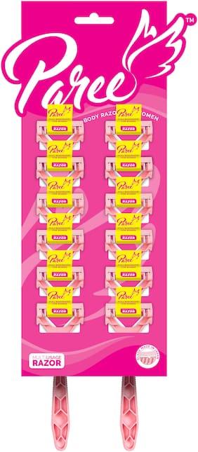 Paree Full Body Razors for Women - Pack of 12