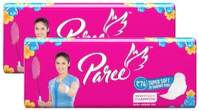 Paree Super Soft Regular Sanitary pads-20 ( Combo of 2)
